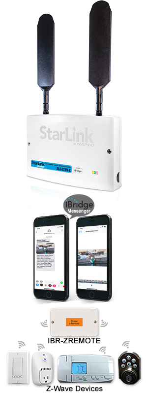 iBridge® Connected Home/Businesses Services App, Connect Hub, Touchscreen & Cameras (image)